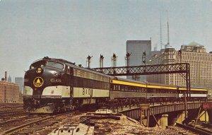 Pere Marquette Chesapeake & Ohio Railroad Train Chicago Illinois postcard