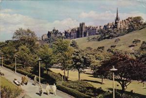 Scotland Edinburgh Princes Street Gardens and The Old Town Skyline 1960