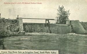 Farming Agriculture C-1910 Cement Step Down Gate Irrigation South Platte 4954