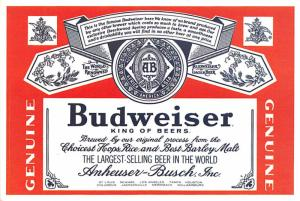 - Budweiser Beer