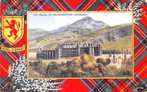 Scotland, UK Old Vintage Antique Post Card Palace of Holyroodhouse Edinburgh ...