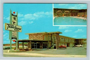 Savannah GA- Georgia, Savannah Travel Lodge Advertising Vintage Chrome Postcard