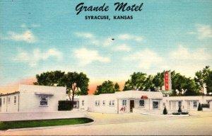 Kansas Syracuse Grande Motel 1957