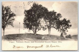 Newark Ohio~State Encampment Ground~Prehistoric Mound~1906 Rotograph