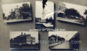 Butler, IN, Indiana, USA Train Railroad Station Depot Post Card Post Card  Bu...