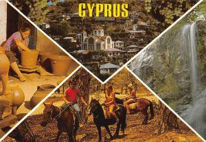 Cyprus Church Eglise Waterfall Forest Riding Horses