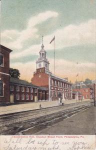 PHILADELPHIA, Pennsylvania, 1900-1910's; Independence Hall, Chestnut Street F...