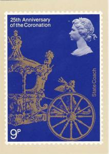 Stamps 25th Anniversary Of Coronation Stage Coach House of Questa London England