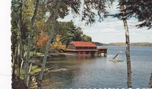 Bay and Boathouse, Canadian Keswick Conference,  Ferndale,  Muskoka,  Canada,...