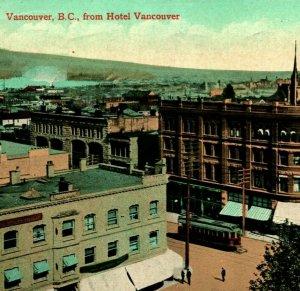 View From Hotel Vancouver CB Británico Columbia Canada 1911 Vtg Tarjeta Postal
