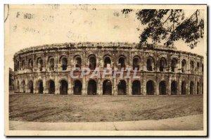 Old Postcard Nimes Les Arenes