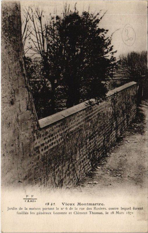 CPA PARIS 18e - Jardin de la maison portant... (59504)
