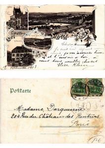 CPA litho Gruss aus SIERCK 1903. LOTHRINGEN (379319)