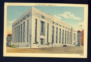 Albany, New York/NY Postcard, United States Post Office, Old Cars, 1941!