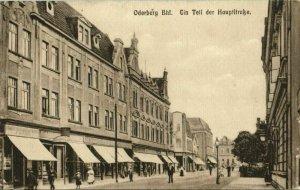 czech germany, ODERBERG BOHUMÍN, Ein Teil der Hauptstrasse (1917) Postcard