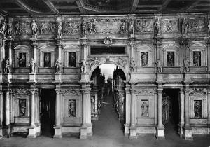 Italy Vicenza Teatro Olimpico La scena Theatre