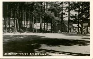 NH - Hillsboro. Bear Hill Motel, Route US 202 - RPPC