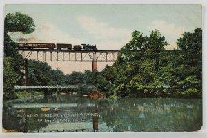 DE The B&O Railroad Bridge Brandywine Wilmington Delaware Postcard R13