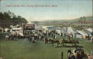 Norway South Paris ME Oxford County Fair c1910 Postcard