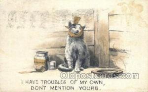 Cat Cats, Old Vintage Antique Postcard Post Card