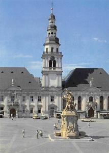 Mannheim an Rhein und Neckar, Marktplatz Brunnen, Altes Rathaus Pfarrkirche