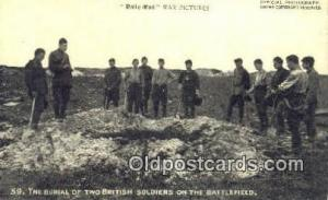 The Burial Of Two British Soldiers on The Battlefield Military Postcard Post ...