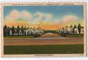 Berryman's Tourist Court, Memphis TN