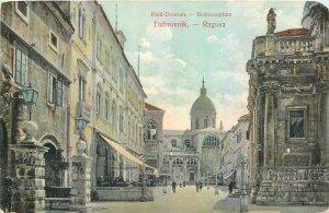 Postcard Croatia Dubrovnik Ragusa Pred Dvorom