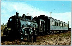 1950s Michigan Railroad Postcard Cadillac & Lake City Railway Train No. 71