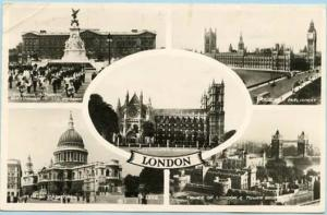 UK - England, London. Five Views    *RPPC