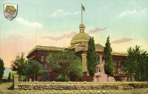 Santa Fe, New Mexico, Capitol Building, Coat of Arms (1910s) Gold Embossed