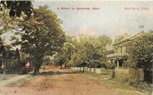 F28/ Syracuse Ohio Postcard 1909 Street Scene Homes Meigs County