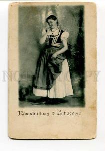 271077 POLAND Luhacovice native girl Vintage Motal postcard