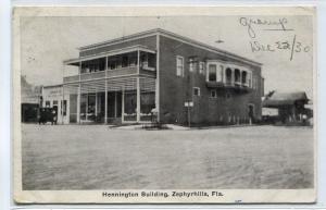 Hennington Building Zephyrhills Florida 1930 postcard