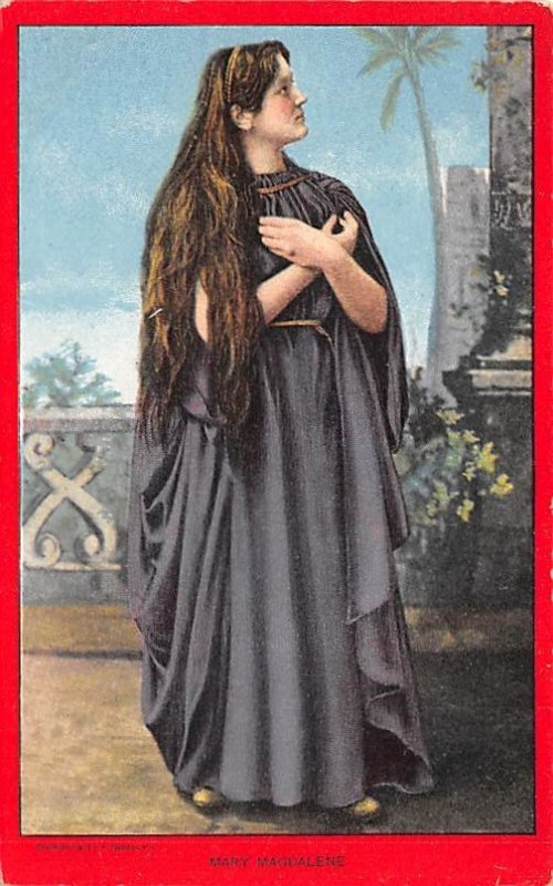 Religious Postcard The Passion Play Mary Magdalene Unused