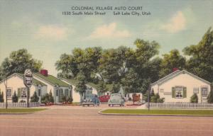 SALT LAKE CITY , Utah , 1930-40s ; Colonial Village Auto Court