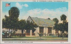 ST PETERSBURG - SHUFFLEBOARD CLUB HOUSE at MIRROR LAKE PARK 1920s era