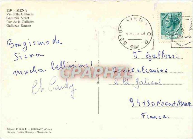 Postcard Modern Siena Street of Galluzza