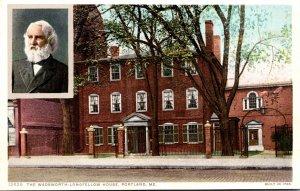 Maine Portland The Wadsworth-Longfellow House Detroit Publishing