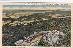 Virginia Shenandoah National Park View From Stony Man Mountain