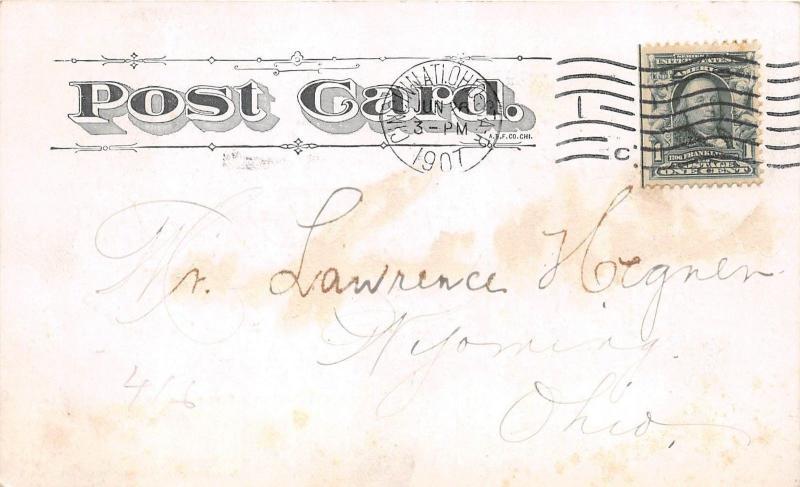 A50/ Rock Island Illinois Il Postcard The INN Blackhawk's Watch Tower 1907