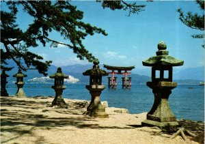 CPM HIROSHIMA Miyajima red torii gate JAPAN (677477)
