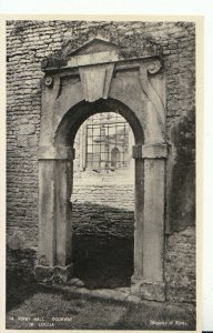 Northamptonshire Postcard - Kirby Hall - Doorway in Loccia - RP - Ref 19929A