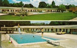 Swimming Pool, To-Rena Motel and Restaurant, Classic Car, STARKE, Florida, 40...