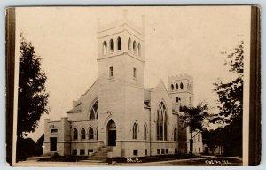 Colfax Illinois~Methodist Episcopal ME Church~c1912 RPPC