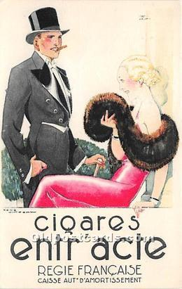 Advertising Postcard - Old Vintage Antique  Ciqares Entr'acte