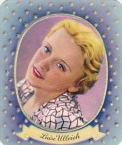Garbaty Cigarette Card 1934 Modern Beauties No 110 Luise Ullrich