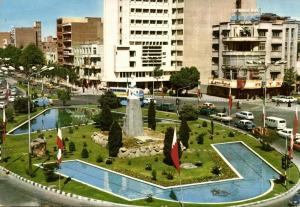 iran, TEHRAN TEHERAN, Ferdowsi Circle, Monument, Cars (1976) Stamp