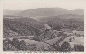 Maryland Oakland Mountain And Valley From State Highway Albertype