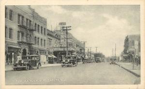 1930s Lithograph Postcard; Elmora Ave, Theatre, Elizabeth NJ Union Co. Unposted